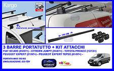 Barre Portatutto-Portapacchi 150 Cm - Fiat Scudo 01/07> e Citroen Jumpy 01/07>