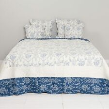Clayre & Eef  Tagesdecke 230 x 260cm Bett-Sofa Überwurf Quilt Plaid Q136.061