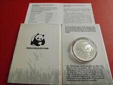 * Mongolei 25 Tögrög 1987 Silber PP *WWF* Schneeleopard (Alb.20)