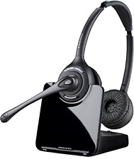 New Plantronics CS520 Binaural Wireless Headset System Hands-Free up to 350 Feet