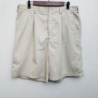 Nike Golf Dri Fit Shorts Mens 36 Brown Pleated Khaki Chino Polyester