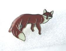 ZP264 Fox Enamel Lapel Pin Badge Brooch Bushy Tail Cunning as...