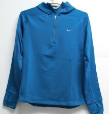 Women's Nike Fit Dry 1/4 Zip Hoodie Teal Large 12 - 14