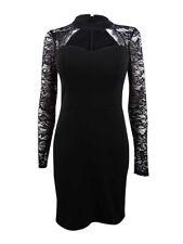 Guess Women's Lace-Sleeve Bodycon Dress (2, Black)