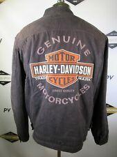 E8091 VTG HARLEY-DAVIDSON Motorcycle Biker Rider Logo Racing Jacket Size L