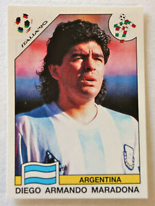 Panini Soccer Sticker Card #224 Diego Maradona Wc Italia 90 World Cup Story 1990