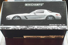 Minichamps 1:18 Mercedes Benz SLS Gullwing in Gunmetal Silver MINT in Box