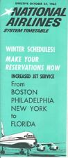 National Airlines timetable 1963/10/27
