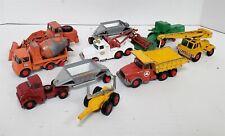 C44 VINTAGE 1960'S KING SIZE MATCHBOX DIECAST CONSTRUCTION FARM & OTHER VEHICLES