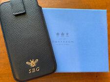 Smythson Panama Navy iPhone X Case