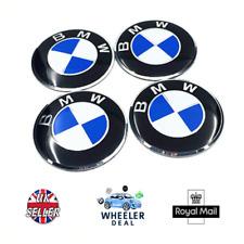 4x BMW *new* Wheel Centre Hub Caps Badge Emblem Stickers 65mm (Fits: Most BMW)