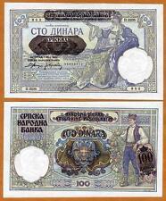 Serbia, 100 Dinara 1941, Nazi Occupation, WWII Pick 23 aUNC