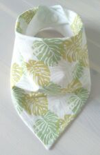 Gender Neutral Baby Bandana Dribble Bib. Tropical Leaves. My Little Owl Bibs