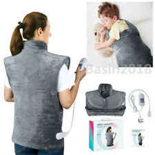 Full Back Wrap Heat Pad Electric Heating Pad Neck Shoulder Pain Relief Warm 220V