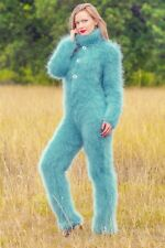 Green sweater hand knitted mohair sweater bodysuit fuzzy catsuit SUPERTANYA