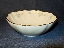 """Discontinued Lenox Rose Manor Porcelain  6""""  Dessert Bowl with Pink Flowers EUC"""