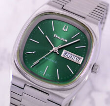 VINTAGE BULOVA AUTOMATIC DAY&DATE EMERALD DIAL MEN'S WATCH