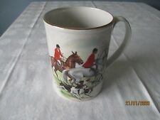 Vintage Equestian Horse Hounds Hunting Tankard Mug