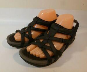 Baretraps Dylynn Strappy Comfort Sandals Women's Black Leather - US 9 M