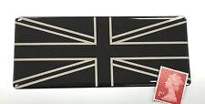 Union Jack Flag Sticker Super Shiny Domed Finish - Black & Chrome 120mm x 50mm