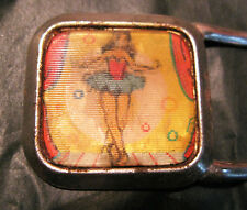 RARE 50'S ANIMATED BUCKLE WITH DANCING LADY - SHE REALLY DANCES !!