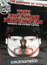The Amazing Johnathan -Wrong On Every Level NEW !DVD,Uncensored Comedy Central