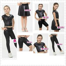 Girls Wet Look Outfit Sets