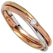 Ringe mit Diamanten für die Verlobung natürliche aus mehrfarbigem Gold