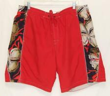 SPEEDO Men's Red Polyester Swim Trunks Shorts Size Large