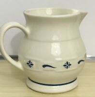 Longaberger Pottery Small Juice Pitcher in Classic Blue