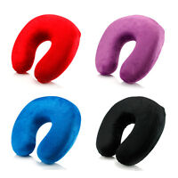 Memory Foam U Shaped Travel Pillow Neck Support Head Rest Airplane Cushion SK