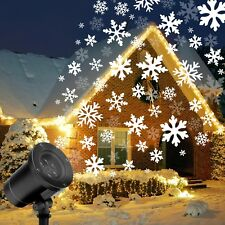 Moving Snowflake Christmas Projector Light LED Garden Outdoor Landscape Lamp