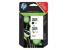 HP 301 Cartuccia Originale Stampante InkJet Nero e Tricromia Getto d'Inchiostro