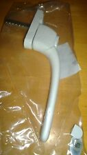 White straight Inline Espag Upvc Window Handles 40mm spindle brand new
