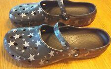 Men's AIRWALK BLACK w/Silver Stars Classic Clog MEN Size 12 Slip On Shoes Summer