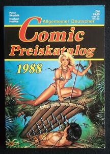 allgemeiner deutscher comic preiskatalog 1988