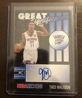 2020-21 NBA Hoops Theo Maledon Great Significance Rookie AUTO RC Thunder #GS-THM