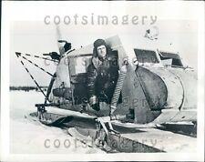 1943 Russian Army Propeller Driven Aero Sledge Press Photo