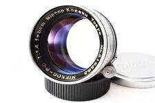 *Exc+* Nippon Kogaku Nikkor S.C 5cm 50mm F1.4 Leica Screw Mount LTM39 from Japan