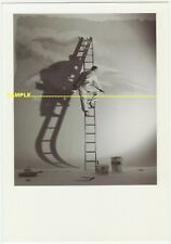 Mural Painter on Ladder, Silhouetted on Wall for Expo'92 Seville, postcard