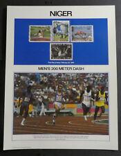 TIMBRES NIGER** 1984 - J.O. d'été de Los Angeles - Sport (A548)