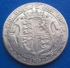 1909 KING EDWARD VII SILVER HALF CROWN COIN