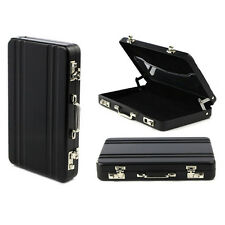 Aluminum Metal Password Suitcase Shape ID Credit Business Card Holder Case Box
