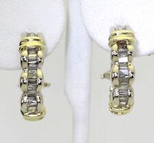 Pendientes de joyería con diamantes en oro amarillo baguette