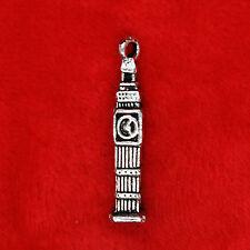 4 x Tibetan Silver Big Ben Tower Clock Charm Pendant Finding Making 50 Shades