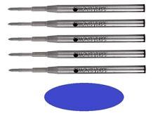 5 - MONTEVERDE Ballpoint Montblanc Style Pen Refill - GEL INK, BOLD POINT, BLUE