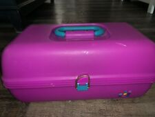 Caboodles ~ Purple Cosmetic Make Up Case Box Accessory 2-Tier Mirror #2622