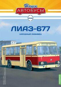 1:43 Bus LiAZ-677 Magazin Modimio №28 USSR, Russia