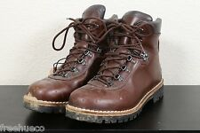 ALICO Summit Brown Leather Classic Vibram Soled Hiking Boots -Men's US 9.5 M