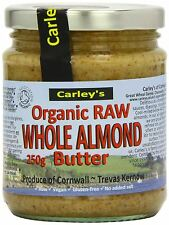 Carley's Organic Raw Almond Butter 250g (Pack of 3)